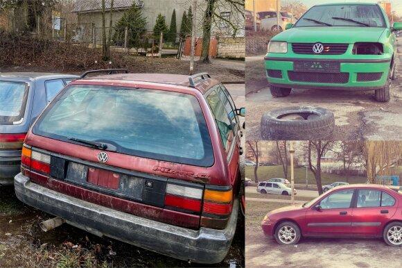 Kai kurių apleistų automobilių vertė išties labai nedidelė