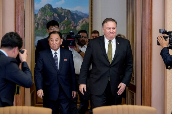 Kim Yong Cholas, Mike'as Pompeo