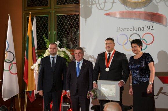 S. Skvernelis, Th. Bachas, M. Mizgaitis ir D. Gudzinevičiūtė