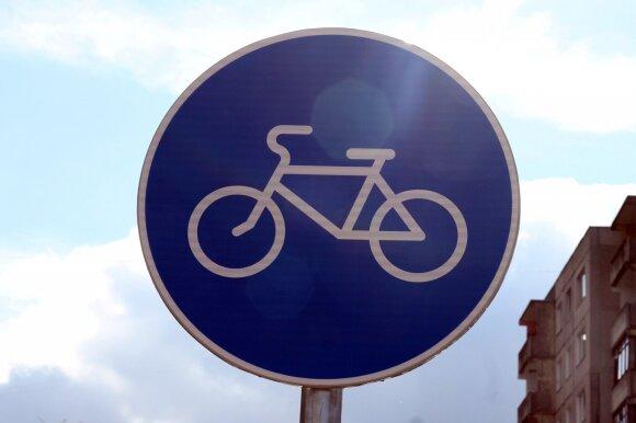 Ženklas, žymintis dviračių taką