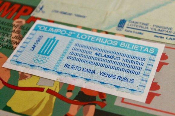 Momentinės loterijos bilietai (vieni pirmųjų)