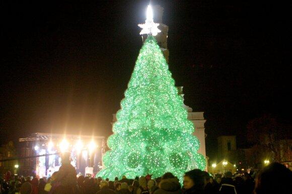 Kaune įžiebta Kalėdų eglutė 2011 m.