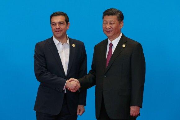 Aleksis Cipras susitinka su Xi Jinpingu