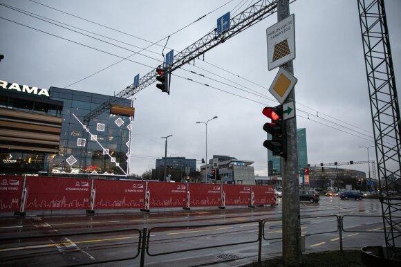 Šešios sankryžos, kur Vilnius žalias rodykles sugrąžins pirmiausia