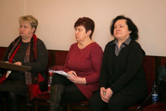 Teresa Barkovska (kairėje), Rima Murauskienė ir Nijolė Auksorė