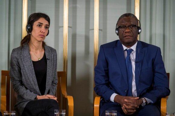 Nobelio taikos premijos laureatai Denisas Mukwege ir Nadia Murad