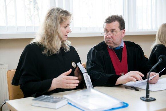 Advokatė Marina Gušauskienė ir prokuroras Darius Čaplikas
