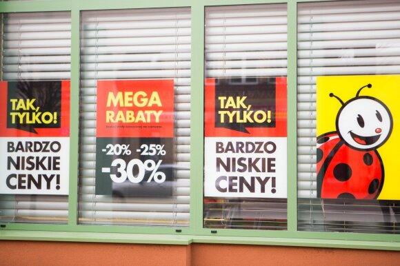 Galas pasakoms apie lenkiškų parduotuvių vajų – tiesa visai kitokia