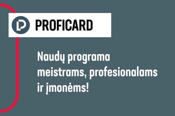 """""""Kesko Senukai"""" atnaujino meistrams skirtą programą PROFICARD – pokyčių naudą pajus ir įmonės"""