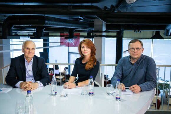 Bronislovas Burgis,  Jūratė Mikulevičiūtė ir Vaidas Bacys
