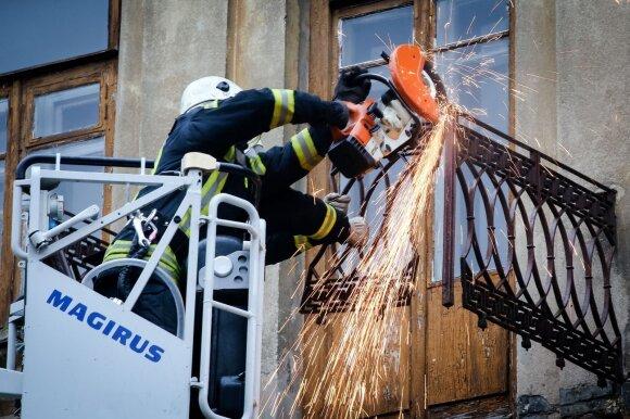 Vilniuje nukrito balkonas