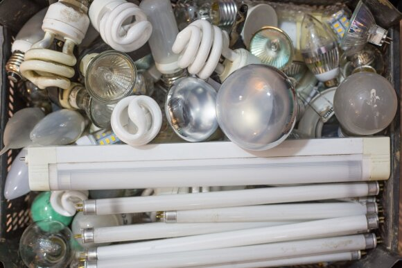 Elektros lempučių atliekos