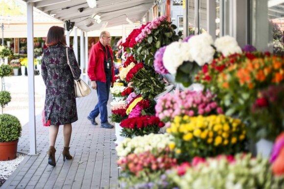Gėlių kainos parduotuvėje paliko be žodžių