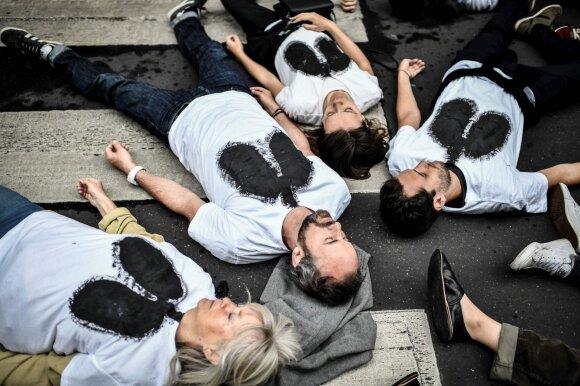 Protestas Prancūzijoje prieš oro taršą