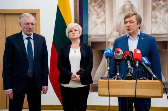 Gediminas Kirkilas, Vanda Kravčionok, Ramūnas Karbauskis