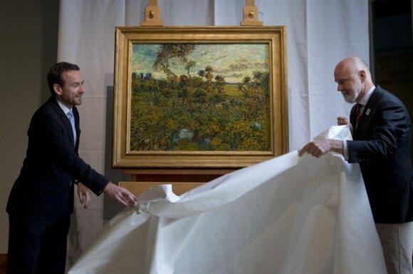 """Vincento Van Gogho paveikslas """"Saulėlydis prie Monmažur"""""""