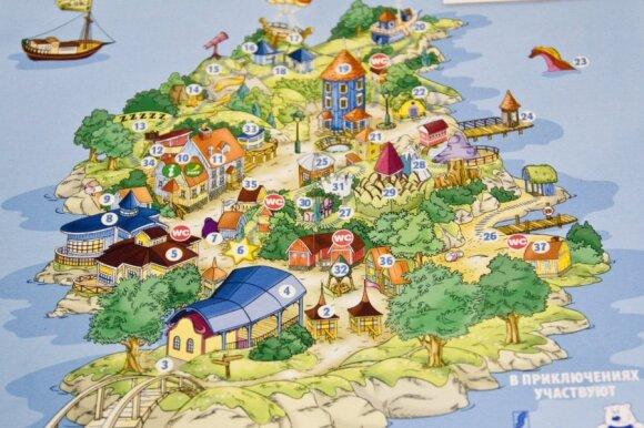 Trolių mumių slėnio žemėlapis
