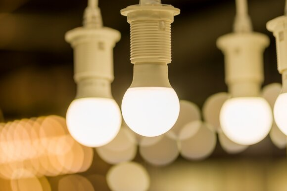 LED lemputės. Jose gyvsidabrio nėra.