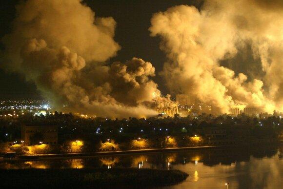 """Bagdadas 2003 metais """"Operacijos Irako laisvė"""" (""""Operation Iraqi Freedom"""" – angl.) metu"""