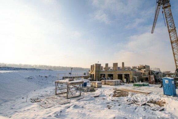 Kauno pilies pašonėje jau dygsta prabangių apartamentų kvartalas