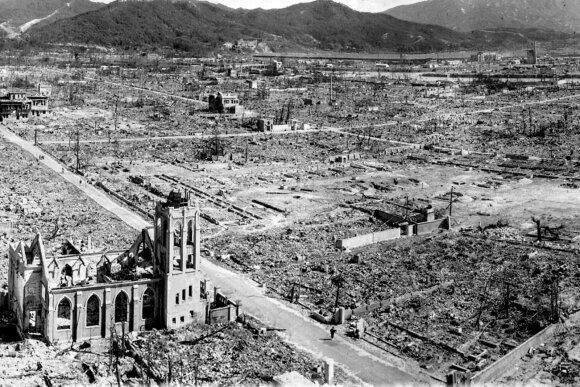 Hirošima po branduolinės atakos.