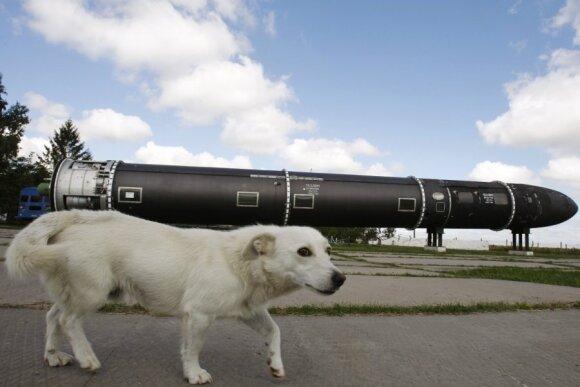 Ukrainos gaminamos balistinės raketos SS-18 Satan