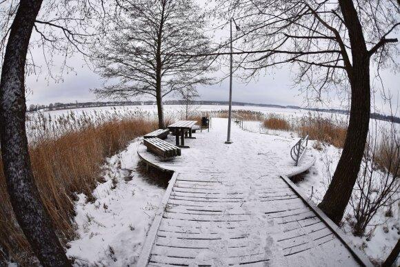 Pažintiniai takai žiemą: vaizdai gniaužia kvapą