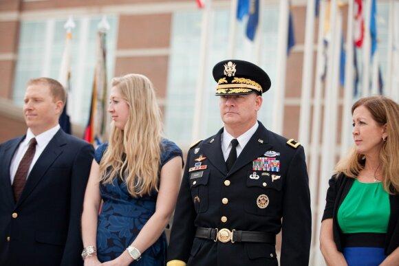 JAV generolas Davidas Haightas su šeima