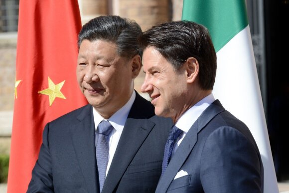 Xi Jinpingas ir Giuseppe Conte