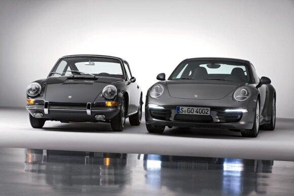 Porsche 911 prieš 50 m. ir dabar