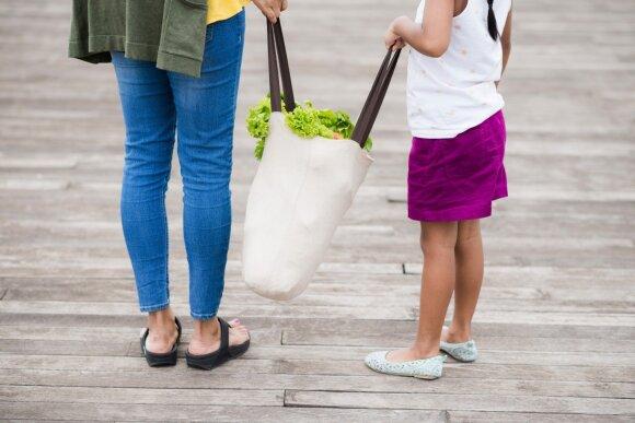 Daugkartinis pirkinių krepšys