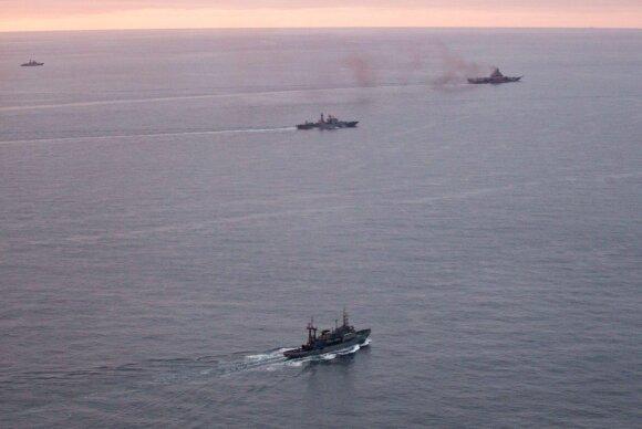 Kremliaus manevrai kelia nerimą NATO: kur iš tikrųjų plaukia rusų karo laivai