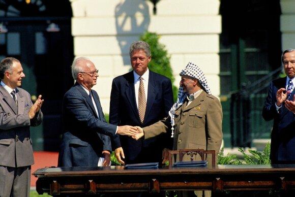 Yitschakas Rabinas ir Yasiras Arafatas