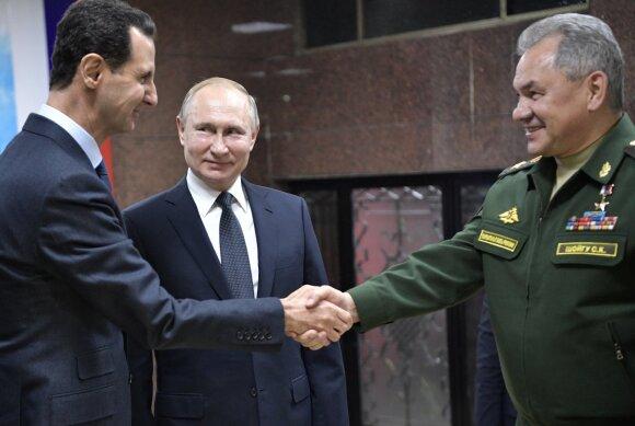 Basharas al-Assadas, Vladimiras Putinas, Sergejus Šoigu