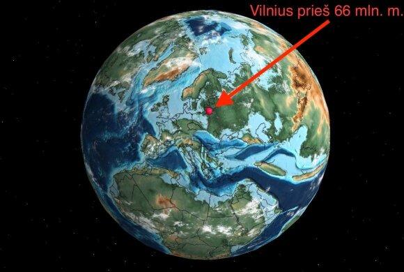 Štai kur buvo Vilnius prieš milijonus metų: žemėlapis parodo, kur seniau driekėsi jūsų gimtasis miestas