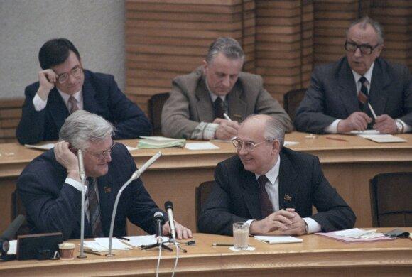 Michailas Gorbačiovas  Lietuvoje 1990 m. sausį.