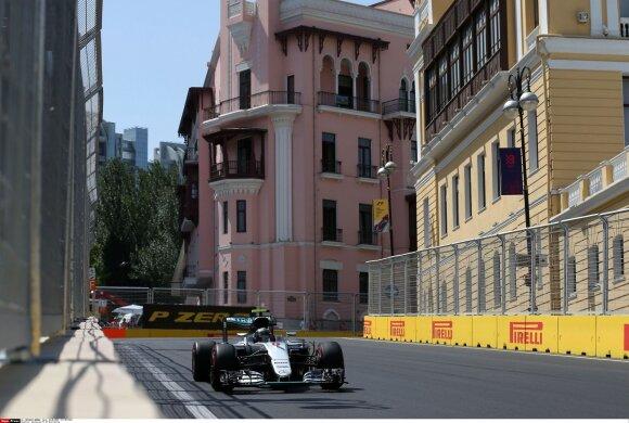 Nico Rosbergas Baku gatvėje
