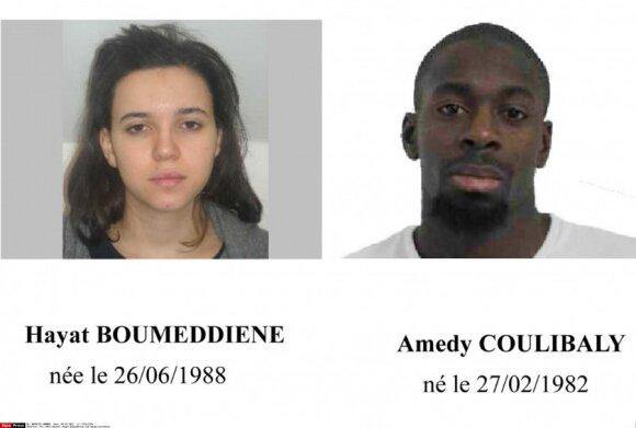 Hayat Boumeddiene ir Amedy Coulibaly
