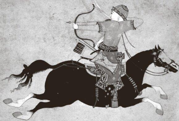 Stovėdamas balnakilpėse mongolų karys galėjo šaudyti net traukdamasis