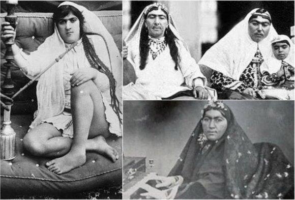 Šacho Nasero al Din Shaho Qajaro žmonos