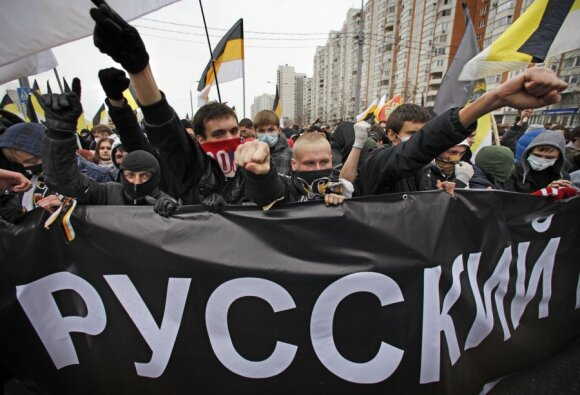 Maskvoje žygiavo nacionalistai ir antifašistai