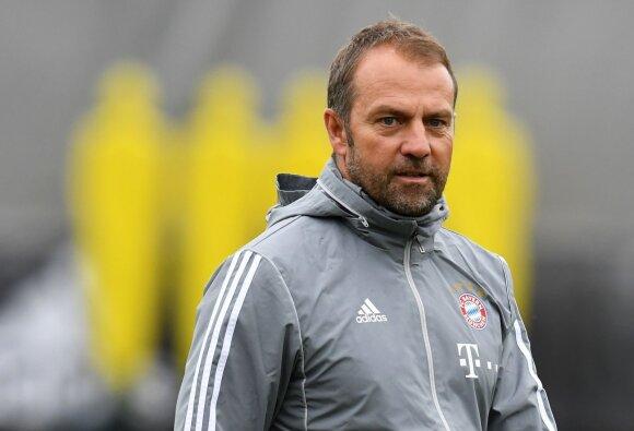 """Laikinas """"Bayern"""" strategas Hansi Flick"""