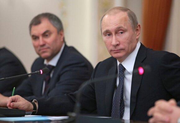 Viačeslavas Volodinas ir Vladimiras Putinas