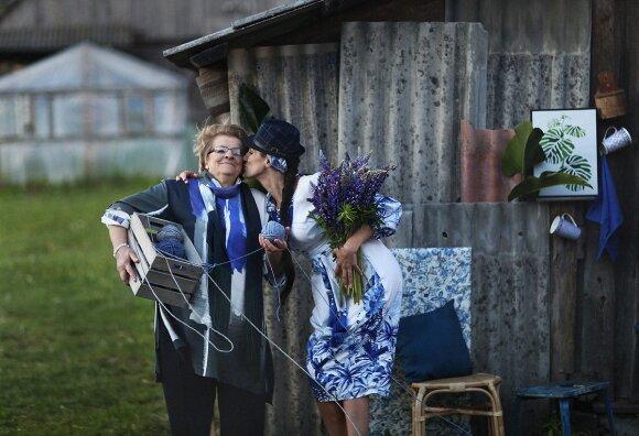 Katažina su savo mama