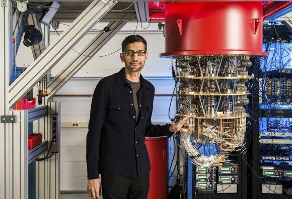 Kvantinis kompiuteris. Rocco Ceselin/Google/Scanpix nuotr.