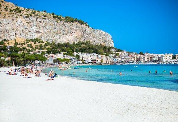Mondello paplūdimys, Sicilija