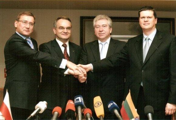 Su Estijos, Latvijos, Lenkijos ūkio ministrais Vilniuje suderinus svarbias pozicijas dėl energetikos plėtros