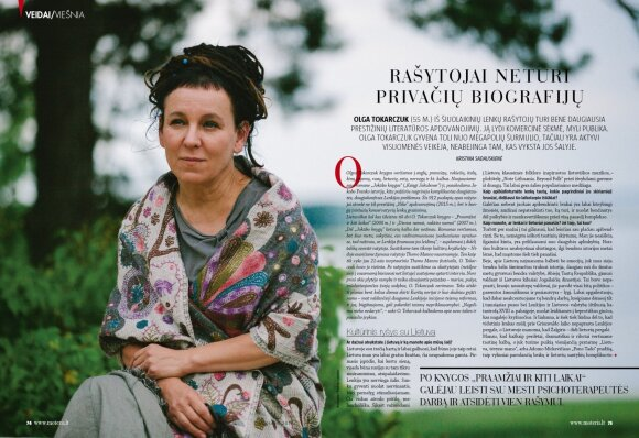 """Bene daugiausia prestižinių literatūros apdovanojimų iš šiuolaikinių lenkų rašytojų turinti Olga Tokarczuk žinoma ir dėl aktyvios visuomeninės veiklos.  """"Visada domėjausi ekologija, ir tai, kas pastaruoju metu vyksta su Belovežo giria, paskatino aktyviai"""