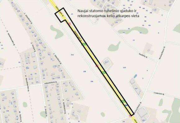 Sostinės Ukmergės g. planuojamas dar vienas tunelis