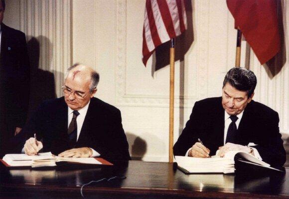 INF sutarties pasirašymas, Ronaldas Reaganas ir Michailas Gorbačiovas